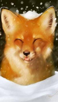 Аватар вконтакте Лиса со снежком на голове, by Martith