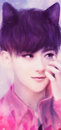 99px.ru аватар Huang Zi Tao / Хуан Цзы Тао участник южно-корейской-китайской группы EXO с кошачьими ушками, by satan-jnr
