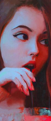 Аватар вконтакте Рыжеволосая девушка с напитком, by viktorow