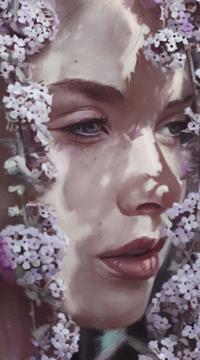 Аватар вконтакте Девушка в окружении лиласа, by ArthurHenri