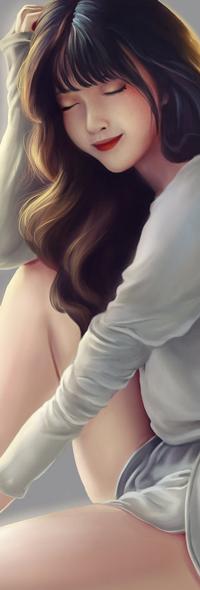 Аватар вконтакте Темноволосая девушка в сером костюме, by TinyTruc