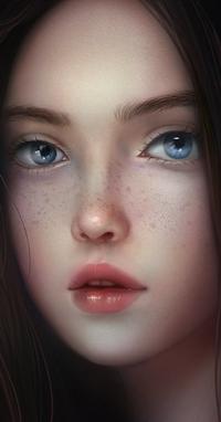 Аватар вконтакте Голубоглазая девушка с веснушками, by TinyTruc
