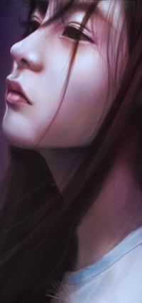 Аватар вконтакте Азиатская девушка в профиль, by YueQing