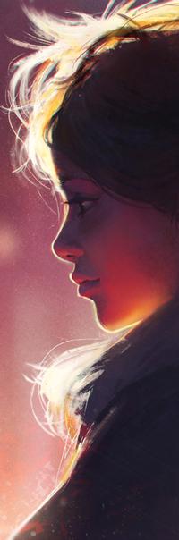 Аватар вконтакте Рыжеволосая девушка в профиль, by GUWEIZ