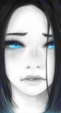 Аватар вконтакте Голубоглазая девушка, by AkuArtist