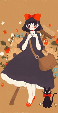 Аватар вконтакте Kiki / Кики и Jiji / Джи-Джи из аниме Majo no Takkyuubin / Ведьмина служба доставки