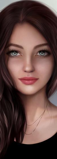 Аватар вконтакте Длинноволосая голубоглазая девушка, by lerinaV