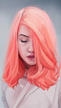 Аватар вконтакте Девушка с розовыми волосами, by Eiight