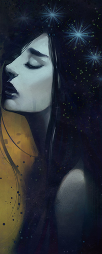 Аватар вконтакте Темноволосая девушка с закрытыми глазами, by Alicechan