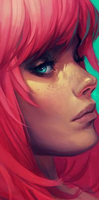 Аватар вконтакте Девушка с красными волосами, by Charlie-Bowater
