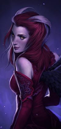 Аватар вконтакте Чернокрылая девушка демон, by Charlie-Bowater