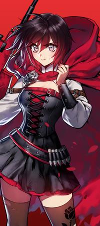 Аватар вконтакте Ruby Rose / Руби Роуз из аниме RWBY / Красный, Белый, Черный, Желтый, by ironboy39