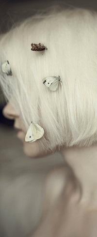 Аватар вконтакте Девушка с мотыльками на волосах, by fairyladyphotography