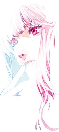 Аватар вконтакте Портрет девушки, приложившей палец к губам, в розово-голубых тонах