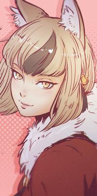 Аватар вконтакте Девушка с лисичьими ушками, by Koyorin