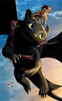 Аватар вконтакте Иккинг со своим драконом Беззубиком, мультфильм Как приручить дракона 2 / How to Train Your Dragon 2