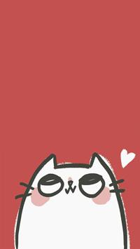 Аватар вконтакте Рисованный котик смотрит вверх