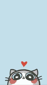Аватар вконтакте Котик на голубом фоне