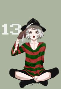 Аватар вконтакте Сузуя Джузо / Suzuya Juuzou из аниме Токийский гуль / Tokyo ghoul в костюме Фредди Крюгера