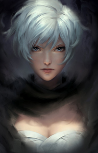 Аватар вконтакте Девушка с белыми волосами, by chubymi
