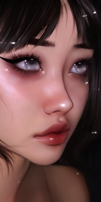 Аватар вконтакте Темноволосая голубоглазая девушка, by taozipie
