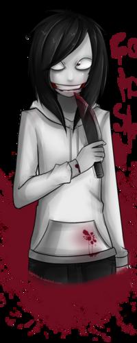 Аватар вконтакте Убийца Джефф / Jeff the Killer — популярный персонаж крипи-пасты, с окровавленным ножом, art by Yamikuruku
