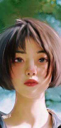 Аватар вконтакте Темноволосая девушка в рубашке, by taozipie