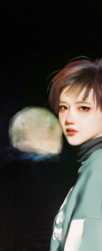 Аватар вконтакте Девушка азиатка с короткой стрижкой, by taozipie