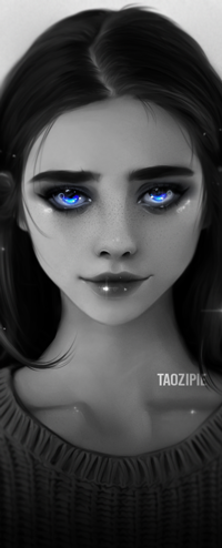 Аватар вконтакте Голубоглазая девушка, by taozipie