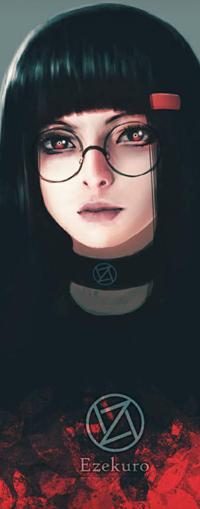 Аватар вконтакте Темноволосая девушка в очках, by Ezekuro