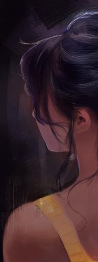 Аватар вконтакте Темноволосая девушка, by Riief