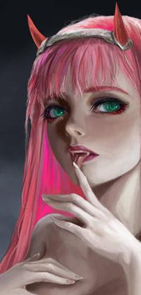 Аватар вконтакте Zero Two / Зеро Ту из аниме Darling in the FranXX / Милый во Франкcе, by EvilInspiration