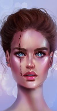 Аватар вконтакте Голубоглазая девушка с прической, by SandraWinther