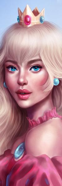 Аватар вконтакте Princess Peach / Принцесса Пич из игры Mario / Марио, by SandraWinther