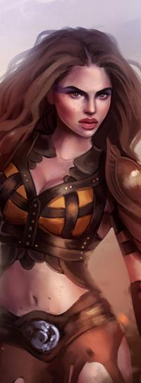 Аватар вконтакте Рыжеволосая девушка воин, by SandraWinther
