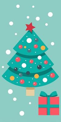 Аватар вконтакте Новогодняя елка с подарком под снегом