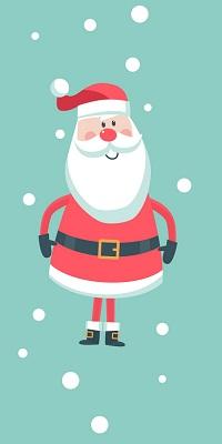 Аватар вконтакте Санта-Клаус / Santa Claus стоит под снегом