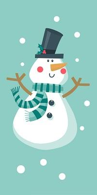 Аватар вконтакте Снеговик в шарфе и цилиндре под снегом
