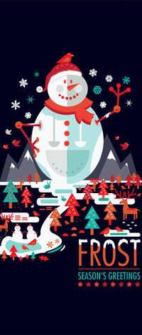 Аватар вконтакте Большой снеговик на темном фоне (Frost Seasons Greetings), art by shoelesspeacock
