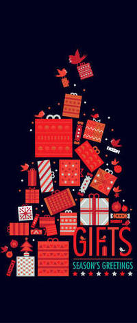 99px.ru аватар Много новогодних подарков на темном фоне (Gifts Seasons Greetings), art by shoelesspeacock
