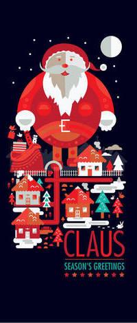 Аватар вконтакте Большой Дед Мороз над ночным городом (Claus Seasons Greetings), art by shoelesspeacock