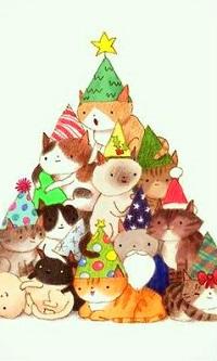 Аватар вконтакте Кошки уложились и представляют елку