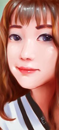 Аватар вконтакте Рыжеволосая голубоглазая азиатская девушка, by ilovepumpkin2014
