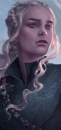 Аватар вконтакте Daenerys Targaryen / Дейенерис Таргариен из сериала Game of Thrones / Игра престолов, by Astri-Lohne