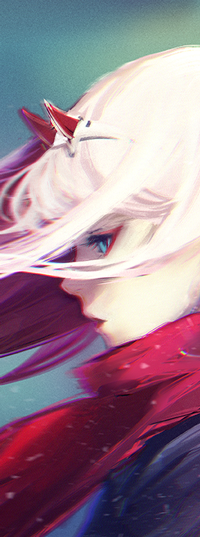 Аватар вконтакте Zero Two / Зеро Ту из аниме Darling in the FranXX / Милый во Франкcе, by yuumei