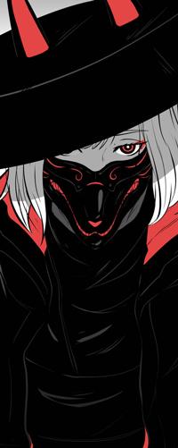 Аватар вконтакте Девушка в маске лисы, by Koyorin