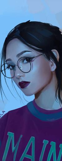 Аватар вконтакте Темноволосая девушка в очках, by Tpiola