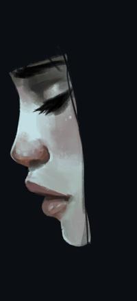 Аватар вконтакте Темноволосая девушка в профиль, by Ettesore