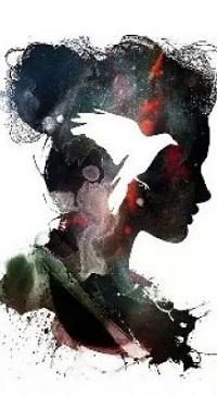 Аватар вконтакте Оригинальный портрет девушки в профиль