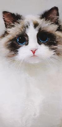 Аватар вконтакте Кошечка с голубыми глазками, by Sam Orantin